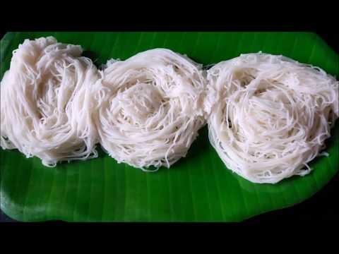 shavige recipe in kannada - idiyappam recipe - rice noodles - semige in kannada