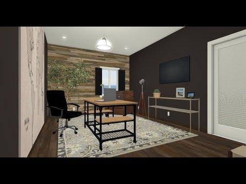 Male Office Design Before & After   DIY & Home Design
