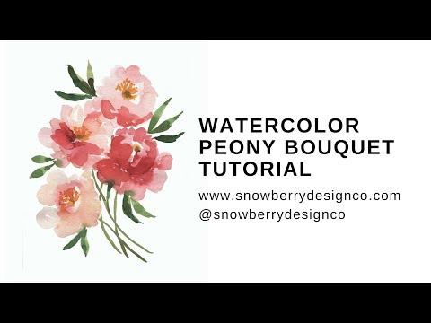 Loose Watercolor Peonies | Process