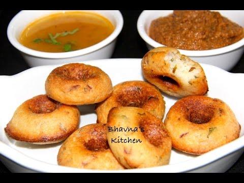 No Fry Baked Medu Vadas from Homemade Medu Vada Flour Mix Video Recipe| Bhavna's Kitchen