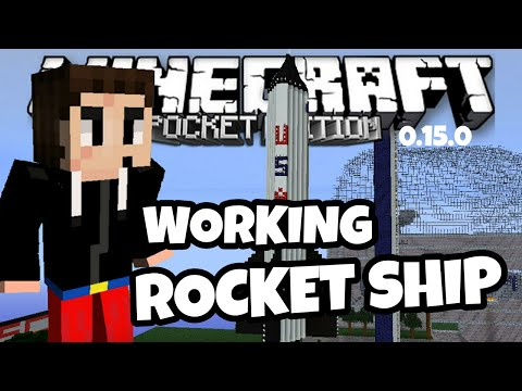 How To Make A Working Rocket Ship In Minecraft PE (Pocket Edition) 1.0.5 | Redstone Creation