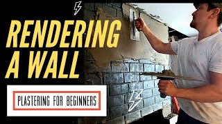 How To Plaster A Brick Wall With Cement (Plastering Sand And Cement Rendering)