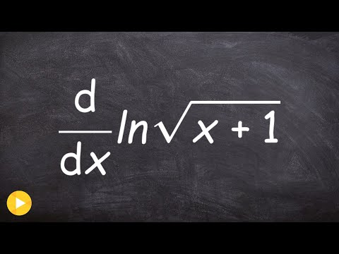Calculus - Using power rule with square root to take derivative on a logarithm, d(ln(sqrt(x+1)))/dx