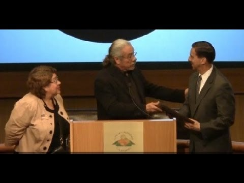 Edward James Olmos presents Sheriff Candidate Todd Rogers with Award