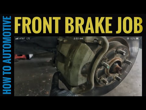 How to Replace Front Brake Pads and Turn Rotors on a 2009 Toyota Camry