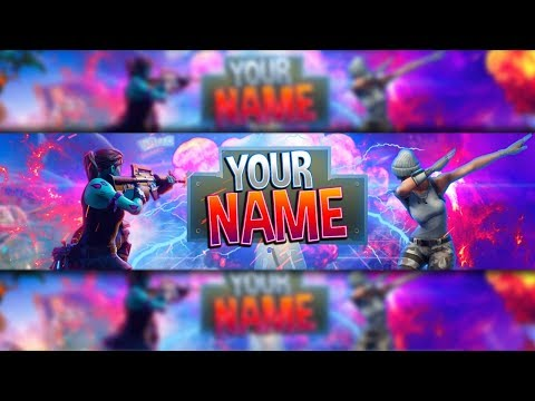 100 Free Fortnite Channel Art Banner Template Photoshop