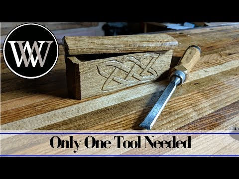 Making a Box With Only a Chisel | Hand Tool Woodworking Challenge