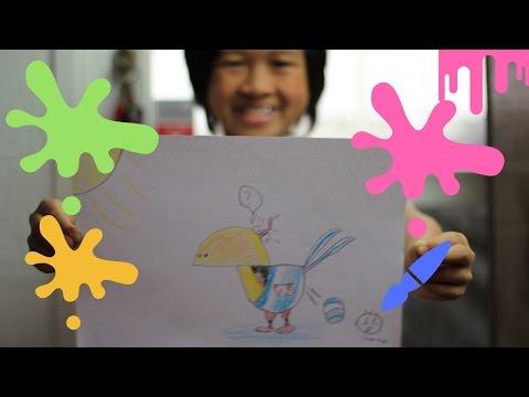 น้องณอห์นสอนวาดรูปนกแก้วl KittyChef คลับเด็ก l