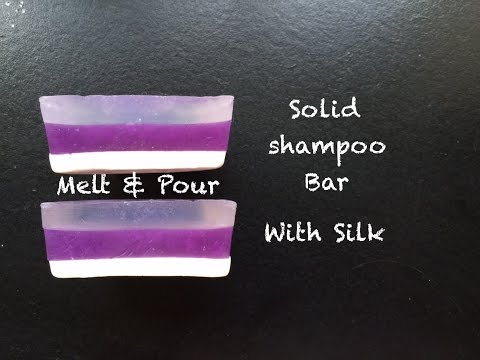 Making Shampoo Bars with Melt and Pour soap SLS Free