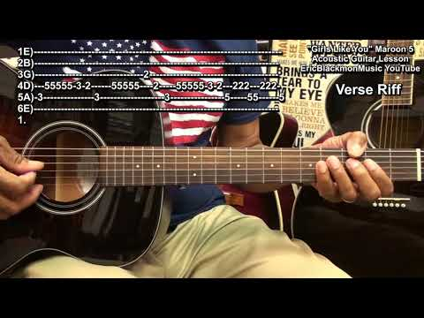 GIRLS LIKE YOU By Maroon 5 ft. Cardi B Acoustic Guitar Chords & Riffs Lesson Tutorial