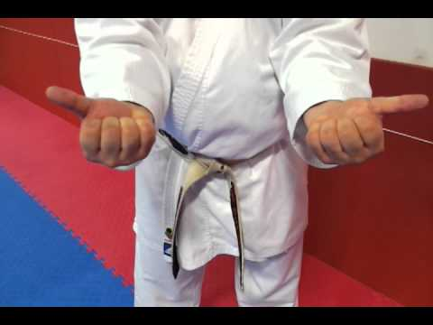 How to make a proper fist for punching techniques for beginner Karate students