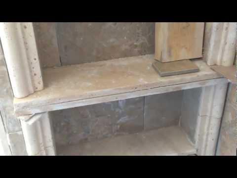 Shower recessed shelf or niche