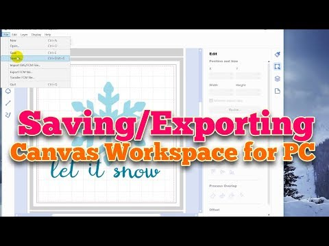 (ScanNCut) Canvas Workspace for PC: Saving/Exporting