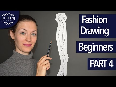 How to draw the fashion figure – side view | Fashion drawing for beginners #4 | Justine Leconte
