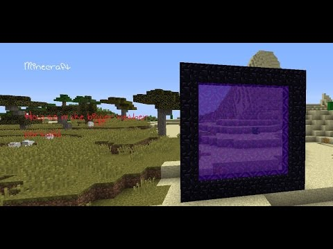 Minecraft Tutorial - How To Make Bigger Nether Portals