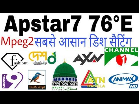 Apstar 7 76°E | Apstar 7 dish setting | Mpeg2 | C band | Apstar 7 channel List