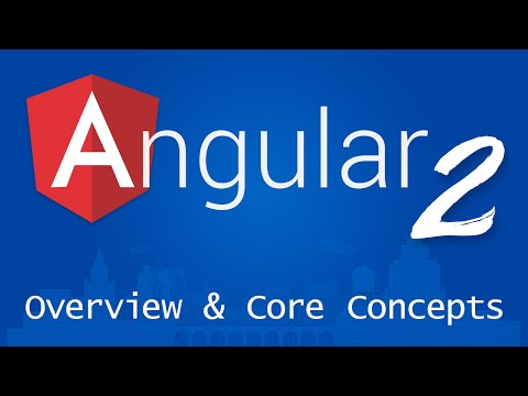 Angular 2 for Beginners - Tutorial 2 - Overview and Core Concepts
