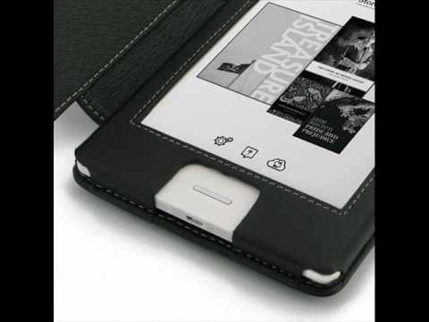 PDair Leather Case for Kobo Touch N905B - Book Type (Black)