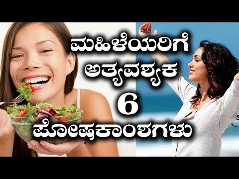 6 Nutrients That Women Need Most For A Healthy Life| ಸ್ತ್ರೀ ಜೀವನದಲ್ಲಿ ಪೋಷಕಾಂಶಗಳ ಪ್ರಾಮುಖ್ಯತೆ