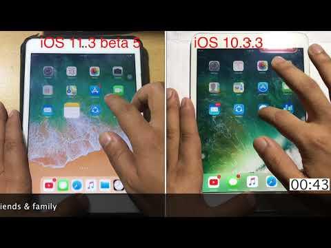 iOS 11.3 beta 5 vs iOS 10.3.3 speed test on iPad mini 2 | Techviewer