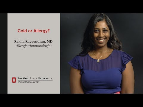Is it a cold or allergies? We explain the difference