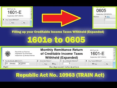 Creating 0605 as Temporary Replacement of 1601e Monthly Remittance Return of Creditable