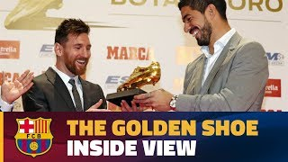 [BEHIND THE SCENES] Messi receives his 4th Golden Shoe