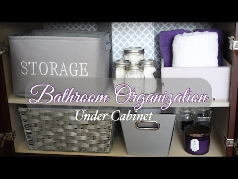 Under Bathroom Sink Organization - DIY