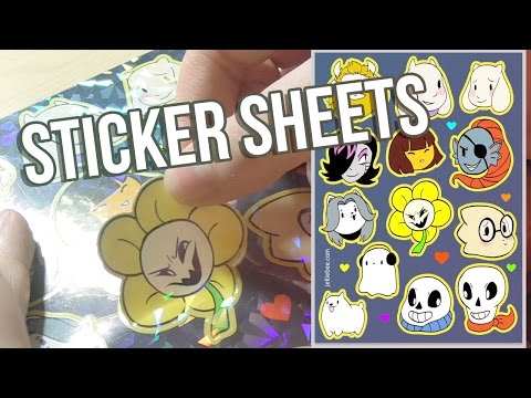 ✦ Drawing an UNDERTALE STICKER SHEET  ✦