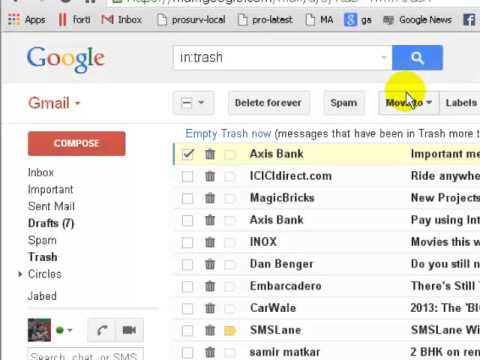 How to get deleted emails back in gmail