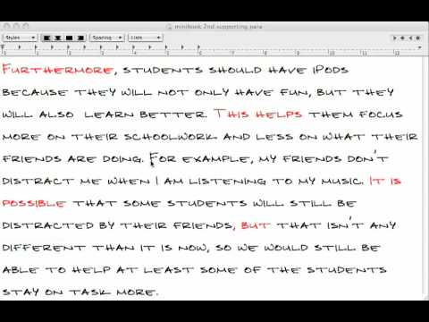 Part 11 2nd Supporting Paragraph Example