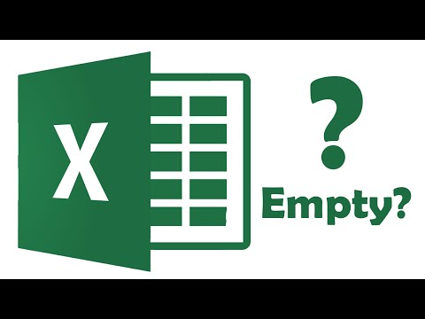 How to solve a blank excel document