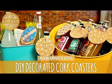 DIY Decorated Cork Coasters - HGTV Handmade