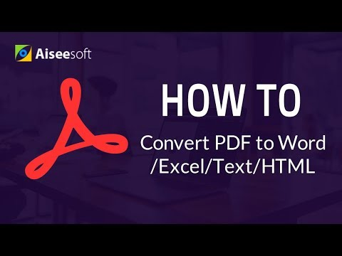 How to convert PDF to Word, JPG, JPEG, Excel, HTML on Windows?