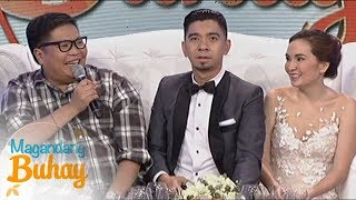 Magandang Buhay: Jugs admits how hard they kept the wedding plans from Jasmin