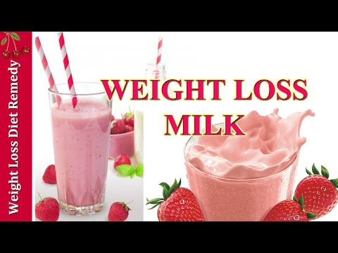 WEIGHT LOSS 9Lbs/4kg STRAWBERRY DIET MILK 2 ingredients आहार वजन घटाने दूध