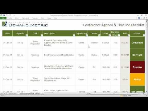 Conference Agenda and Timeline Checklist
