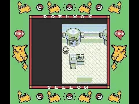 Natural Pikachu off screen glitches (Pokémon Yellow)