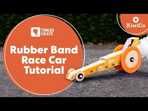Make a Rubber Band Powered Race Car