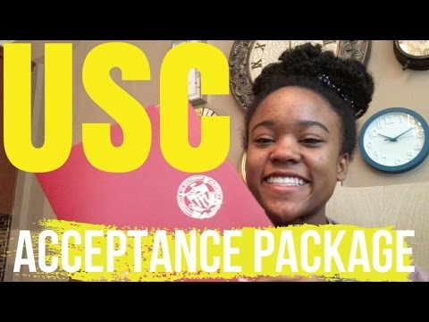 Opening my USC Acceptance Package! +SCHOLARSHIP