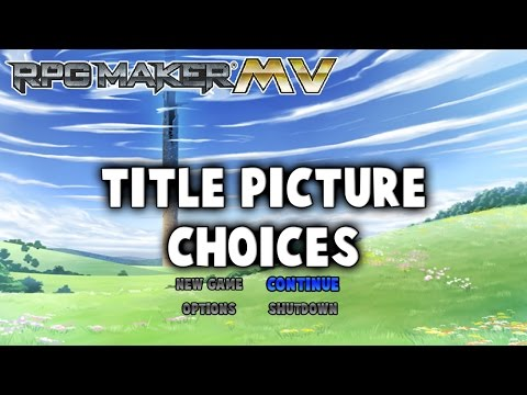 Title Picture Choices Plugin - RPG Maker MV
