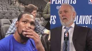 Kevin Durant Shocked After Hearing Gregg Popovich