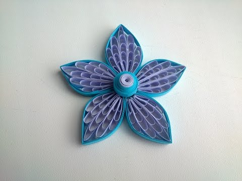 Quilling Flowers Tutorial: Quilling flowers using a comb.