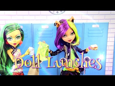 DIY - Monster High Special: How to Make Doll Food: Lunches - Handmade - Doll - Crafts