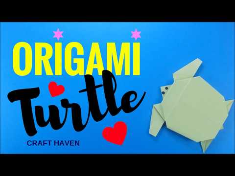 Origami Animal: How To Make An Origami Turtle - Easy Origami Tutorial for Beginners for Kids