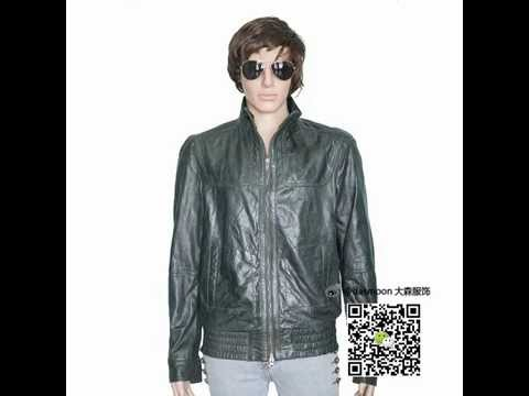 Waxy wash look sheep skin leather jacket
