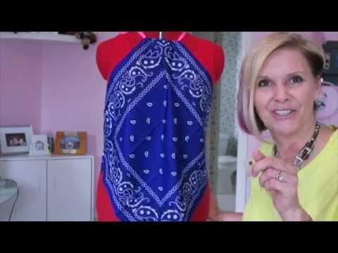 Bandana Halter Top DIY Sew or No Sew Refashion
