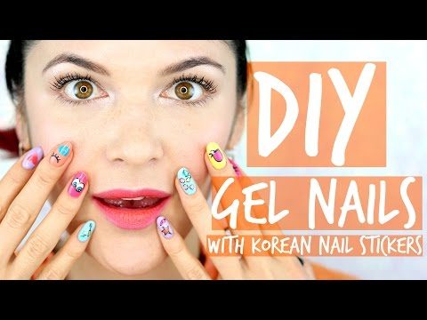 DIY Gel Nails With Korean Nail Stickers