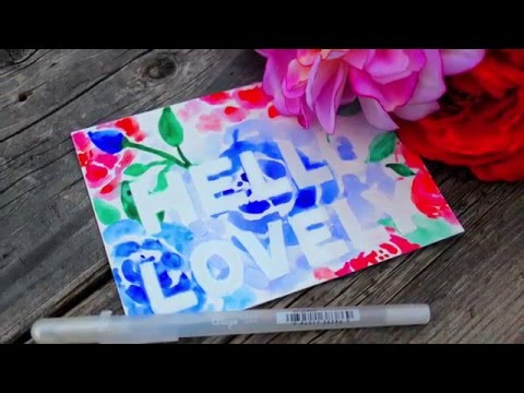 Glaze Watercolor Resist