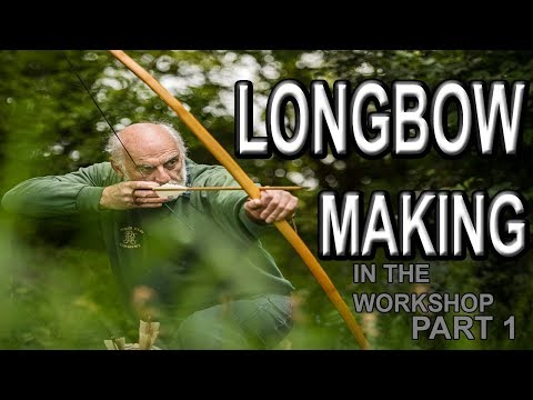 Today in the Longbow Workshop, making a Yew bow, part 1